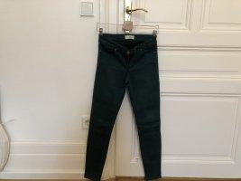 Zara Basic Pantalón de cinco bolsillos verde bosque Algodón