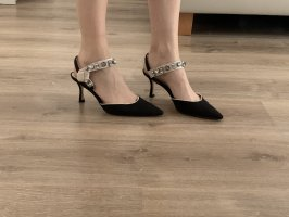 Zara Slingback Pumps black-cream