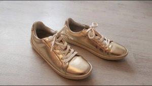 Zara Sneaker gold gr.38 (37)