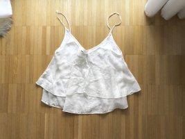 Zara Spitzen Blumen Camisole Top Weiß S