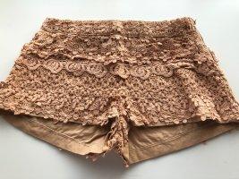 Zara Basic Pantalón corto nude