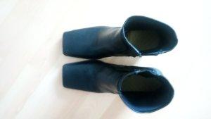 Zara Basic Bottines plissées brun foncé-noir tissu mixte