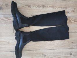 Zara Stretch laarzen zwart Lycra