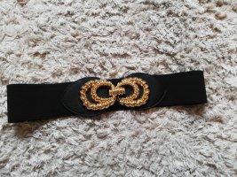 Zara Cinturón pélvico negro-color oro