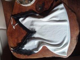 Zara Haut tricotés noir-blanc coton