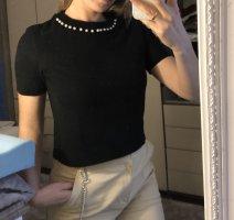 Zara Top de punto negro