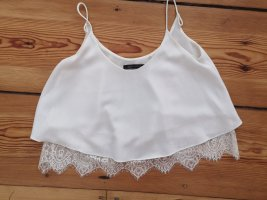 Zara Cropped top wit Polyester