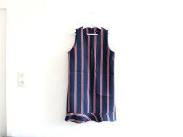 Zara TRF Kleid Gr. L 40 38 dunkelblau rot weiß gestreift Peplum