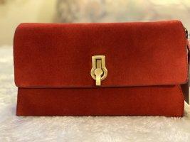 Zara Umhängetasche aus Veloursleder Rot