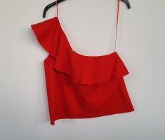 Zara Top monospalla rosso-rosso mattone