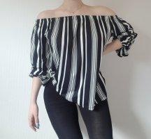 Zara Cowl-Neck Shirt white-black