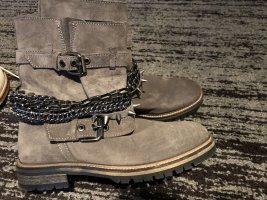 Zara Wildleder Biker Boots