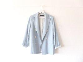 Zara Woman Blazer Gr. S M 38 hellblau weiß jacket