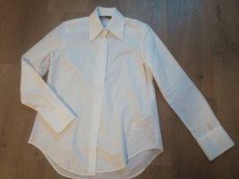 Zara Woman Camisa de manga larga blanco Algodón