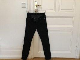 Zara Woman microkord-Hose schwarz Casual-Look