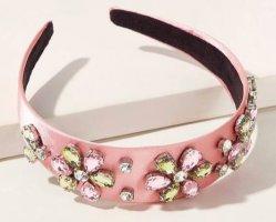 Zara wunderschöner Haarreif mit Strass Blumen rosé top