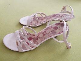 Esprit Strapped High-Heeled Sandals white-grey brown mixture fibre