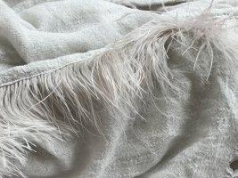 Écharpe en cachemire gris clair viscose