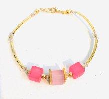 Zartes Würfel Armband mit Pink und Rosa Polar Würfeln & Swarovski Crystal