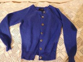 Zauberhafte blaue Rundhals Looxent Kashmir-Strickjacke, Gr. 38