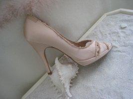 Zauberhafte Luxus Heels Alt Rosé Edel Used Look Cut Out NP 539 € Top