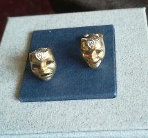 Zauberhafte Ohrstecker, 14 Karat, 585er Gold, mit je einem Brillant