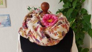 Bufanda de punto multicolor tejido mezclado