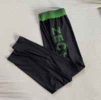 Leggings nero-verde prato