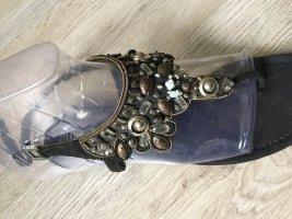 Blue Cox Toe-Post sandals multicolored