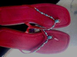 Zehensandalen- flip-flops von Catherina- Gr.37 - Leder rot