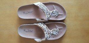 Zehensandalen Ibiza-Style von Juliet mit Fußbett und Korksohle, Gr. 40 1x getragen