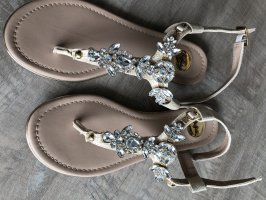 Buffalo Toe-Post sandals gold-colored