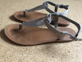 Hilfiger Denim Toe-Post sandals silver-colored-beige