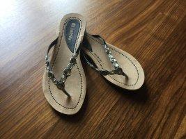 Zehentrenner-Sandalen mit Glitzersteinen