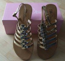 Ella Cruz Toe-Post sandals gold-colored