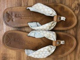 Sansibar Sandalias con talón descubierto marrón oscuro-gris claro