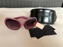Zeitlos schöne Sonnenbrille, nagelneu in stylishen Rosa-Tönen