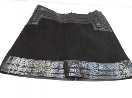 Hallhuber Leather Skirt black