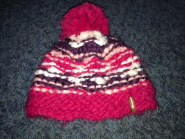 Ziener Knitted Hat white-raspberry-red