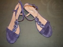 Kess Wedge Sandals blue violet leather