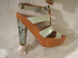 Zinda´ Coole Luxus Sandaletten Schlange Mint NP 239 € Top