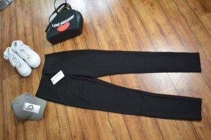 Zip Detail Long Jersey Pants Nakd schwarz 36/38
