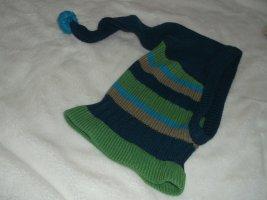 Zipfelstrickmütze SUPERwarm & weich blau-grün