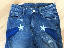 Zoe Karssen Stern Blue Denim Star Jeans Gr. 26 / 27