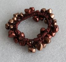 Vintage Bandeau cheveux brun-bronze