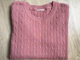 Vila Jersey trenzado rosa empolvado