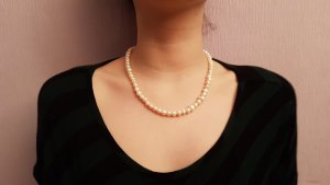 keine Shell Necklace natural white-oatmeal