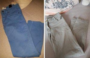 Zwei einfarbi Hosen von H&M