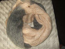 Esprit Bufanda tubo gris-nude