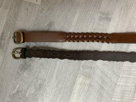 Cintura in ecopelle marrone scuro-marrone